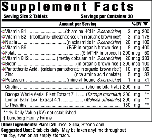 Supplement Facts for http://megafood-vitamins.com/images/Adult B-Centered