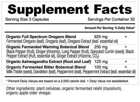 Supplement Facts for http://megafood-vitamins.com/images/Apothecary Oregano