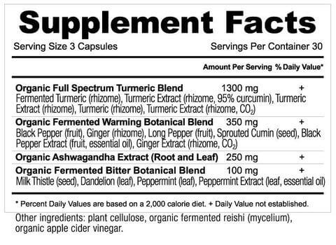 Supplement Facts for http://megafood-vitamins.com/images/Apothecary Turmeric