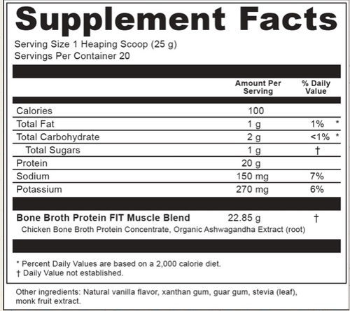Supplement Facts for http://megafood-vitamins.com/images/Bone Broth Protein FIT Muscle Booster