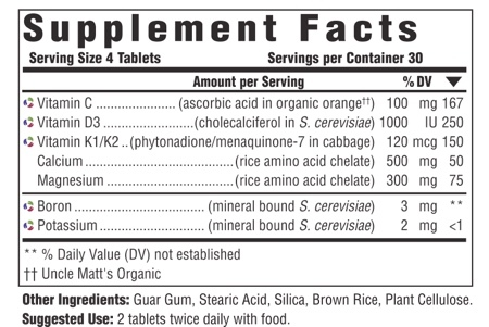 Supplement Facts for http://megafood-vitamins.com/images/Bone Health