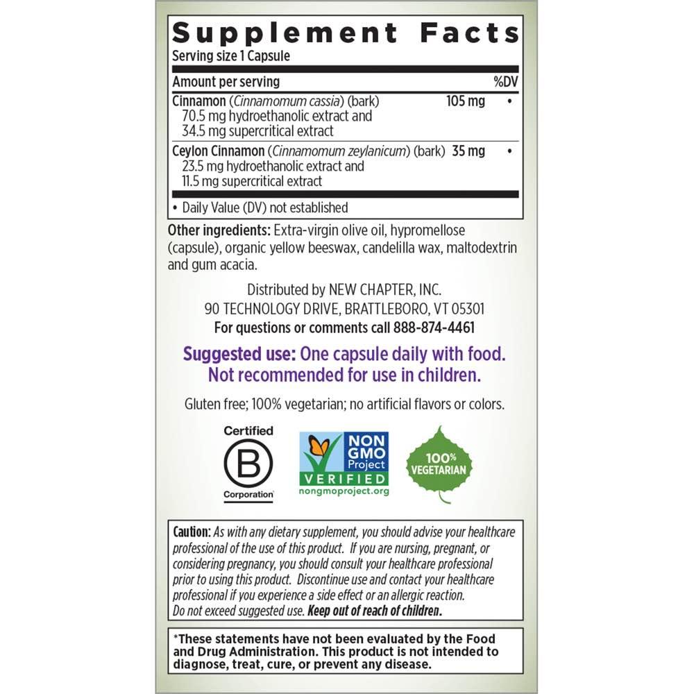Supplement Facts for http://megafood-vitamins.com/images/Cinnamonforce