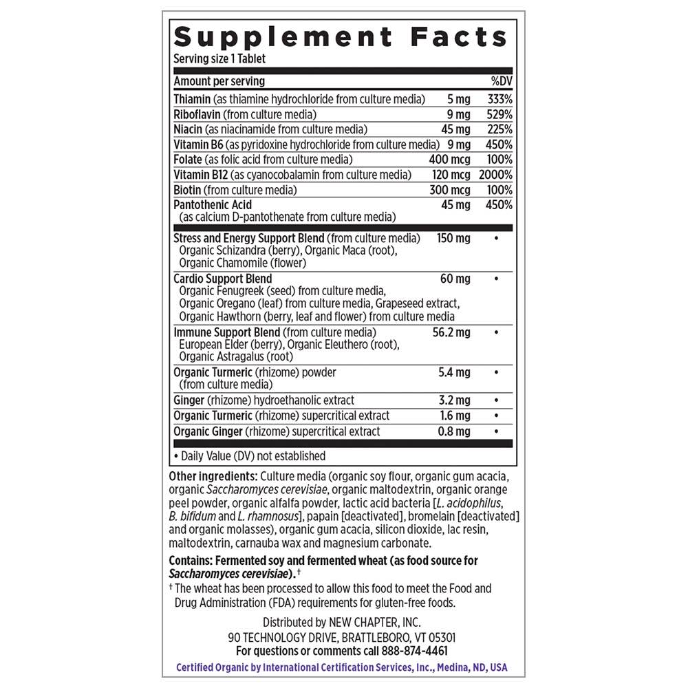 Supplement Facts for http://megafood-vitamins.com/images/Coenzyme B Food Complex One Daily