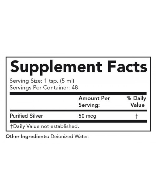 Supplement Facts for http://megafood-vitamins.com/images/Colloidal Silver