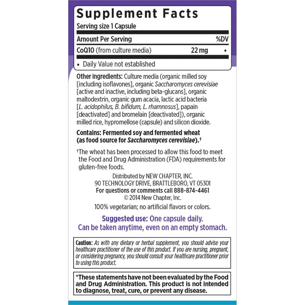 Supplement Facts for http://megafood-vitamins.com/images/CoQ10 Food Complex