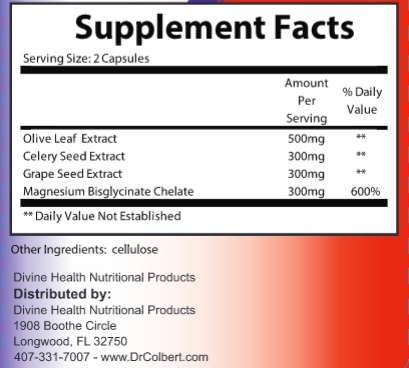 Supplement Facts for http://megafood-vitamins.com/images/Divine Health Blood Pressure Support
