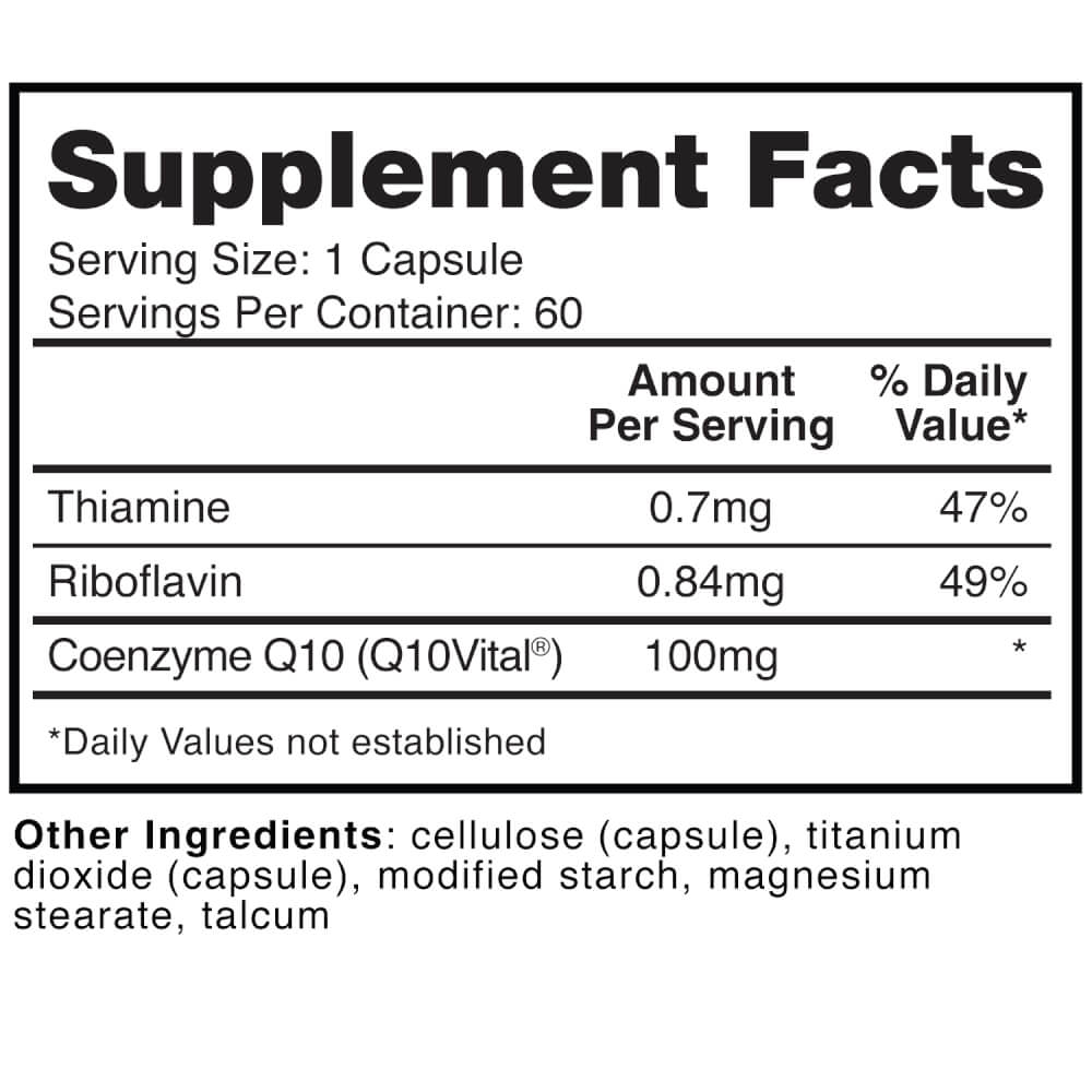 Supplement Facts for http://megafood-vitamins.com/images/Divine Health CoQ10 Vital Ubiquinone