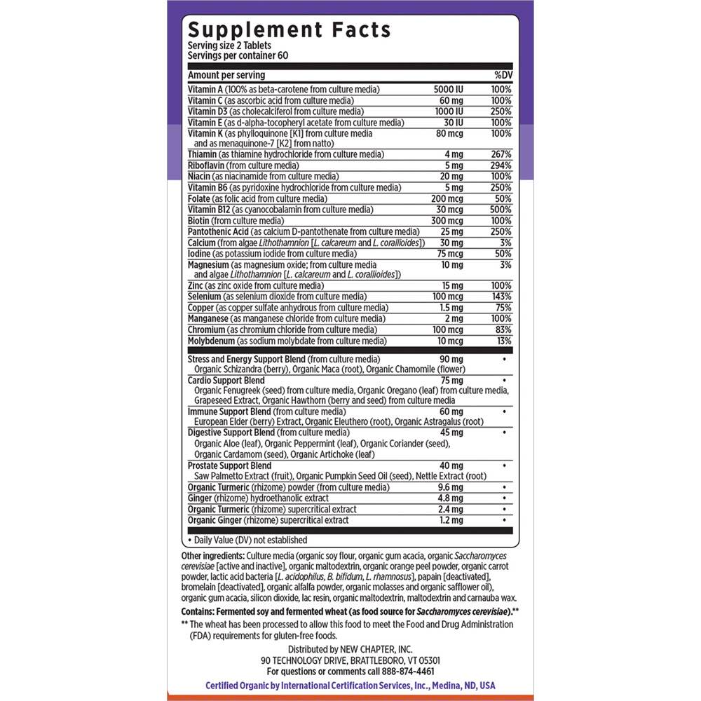 Supplement Facts for http://megafood-vitamins.com/images/Every Man