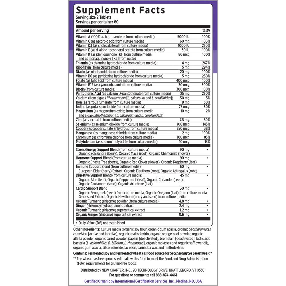 Supplement Facts for http://megafood-vitamins.com/images/Every Woman