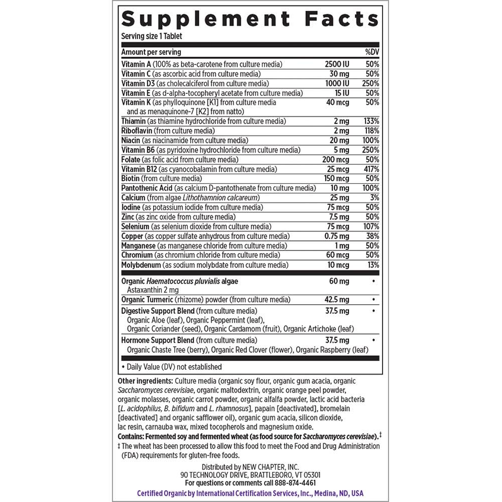 Supplement Facts for http://megafood-vitamins.com/images/Every Woman One Daily 55 Plus