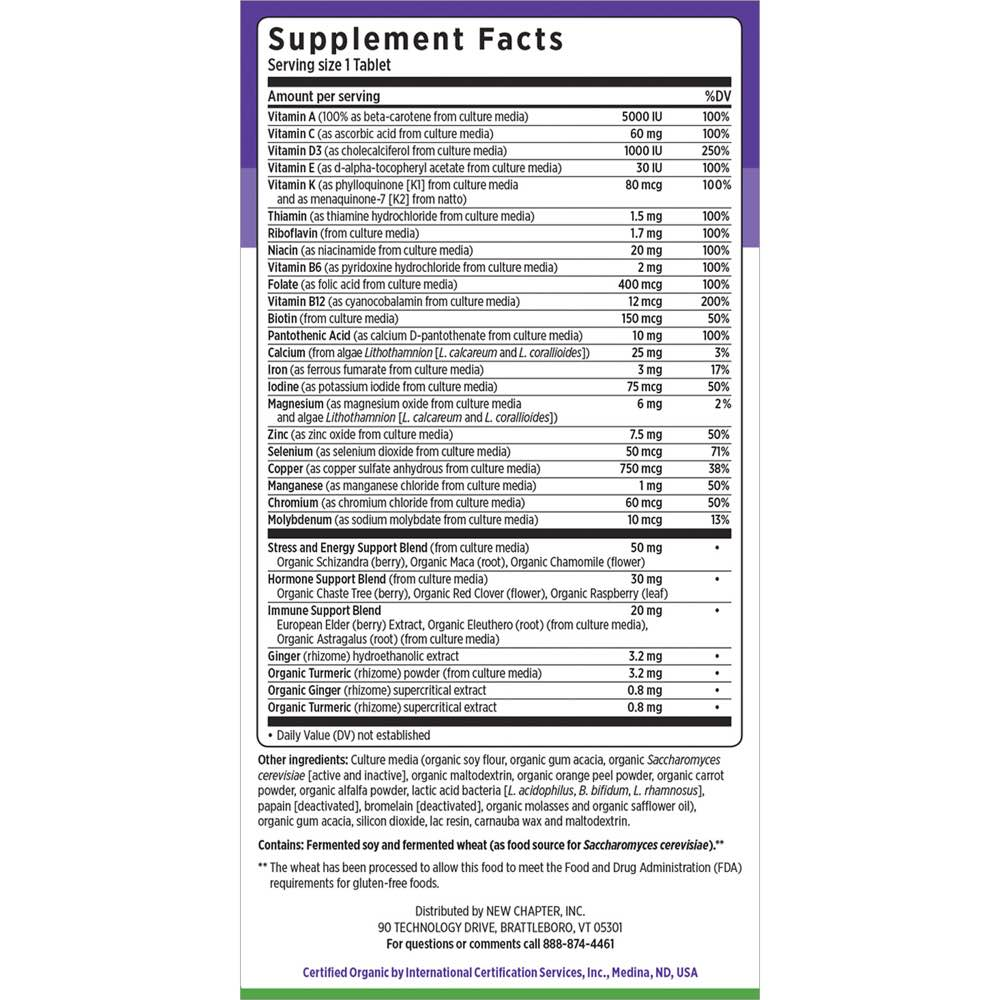 Supplement Facts for http://megafood-vitamins.com/images/Every Woman One Daily
