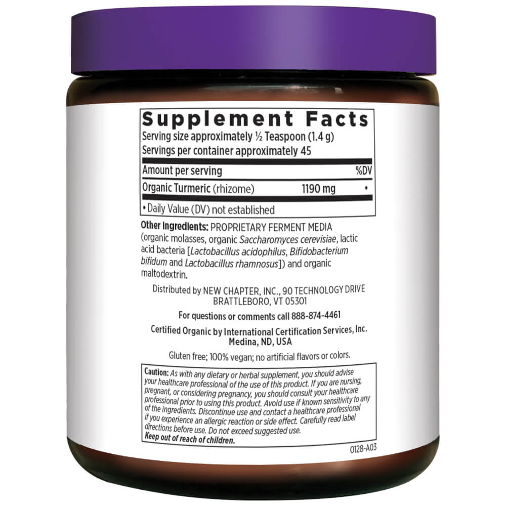 Supplement Facts for http://megafood-vitamins.com/images/Fermented Turmeric Booster Powder