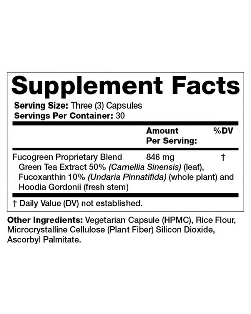 Supplement Facts for http://megafood-vitamins.com/images/Fucogreen-Fucoxanthin