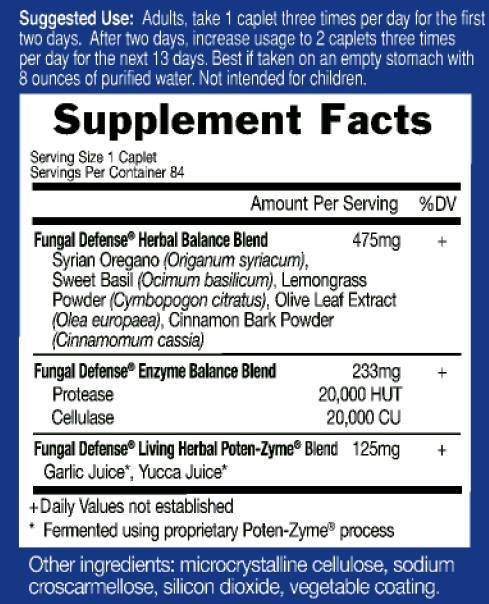 Supplement Facts for http://megafood-vitamins.com/images/Fungal Defense