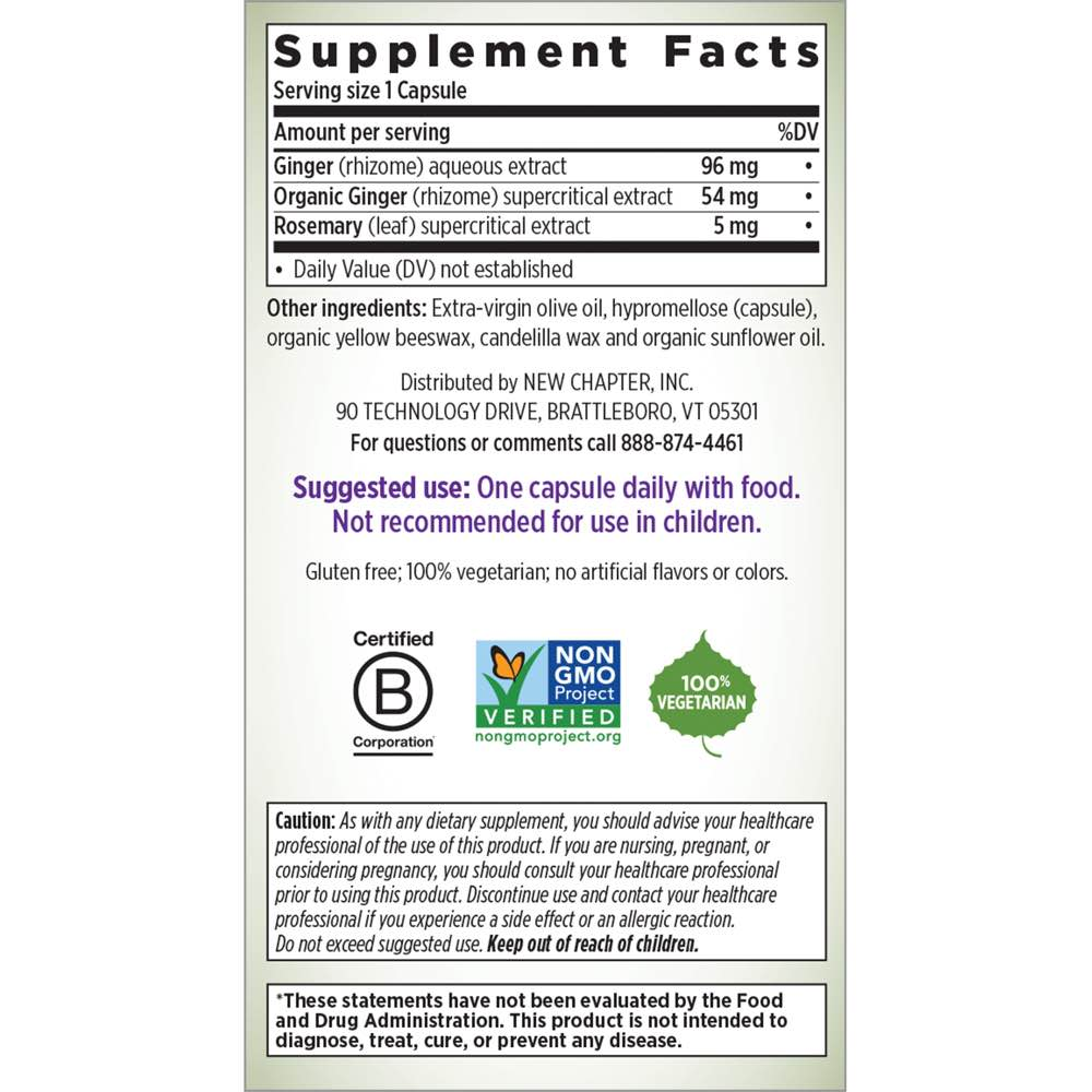 Supplement Facts for http://megafood-vitamins.com/images/Gingerforce