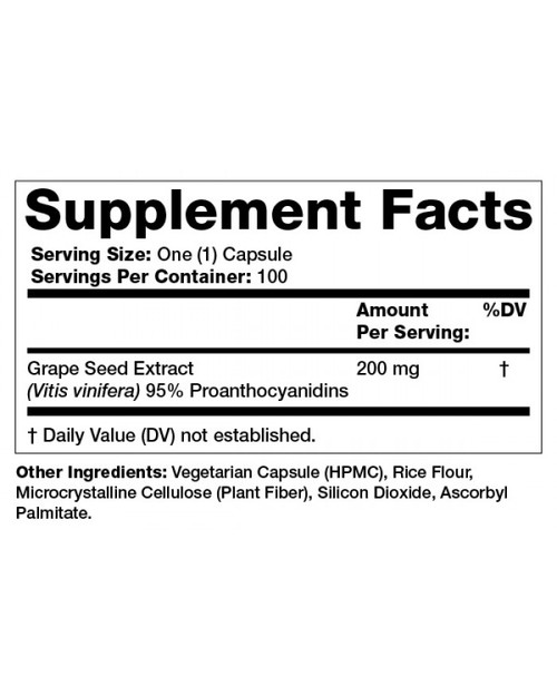 Supplement Facts for http://megafood-vitamins.com/images/Grape Seed Extract Extra Strength