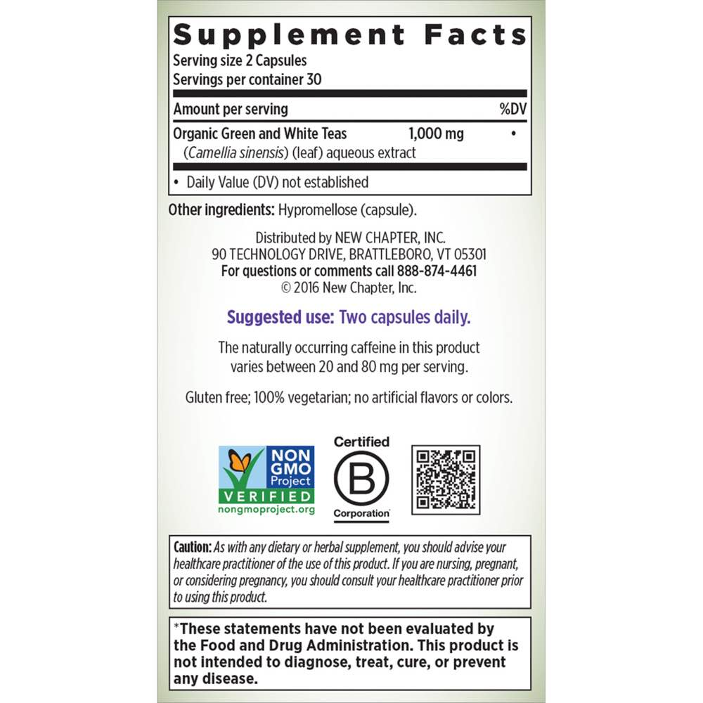 Supplement Facts for http://megafood-vitamins.com/images/Green and White Tea