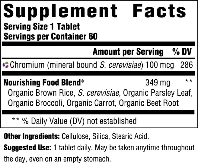 Supplement Facts for http://megafood-vitamins.com/images/GTF Chromium 100 mcg