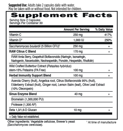 Supplement Facts for http://megafood-vitamins.com/images/Immune Balance Sinus
