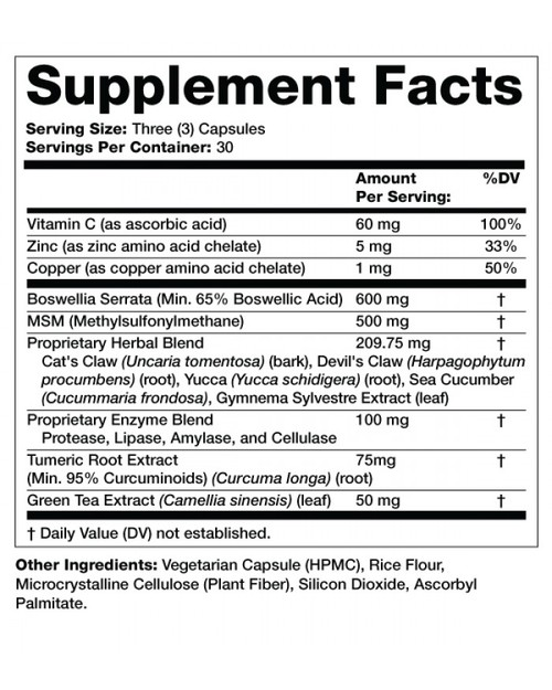 Supplement Facts for http://megafood-vitamins.com/images/Inflameric