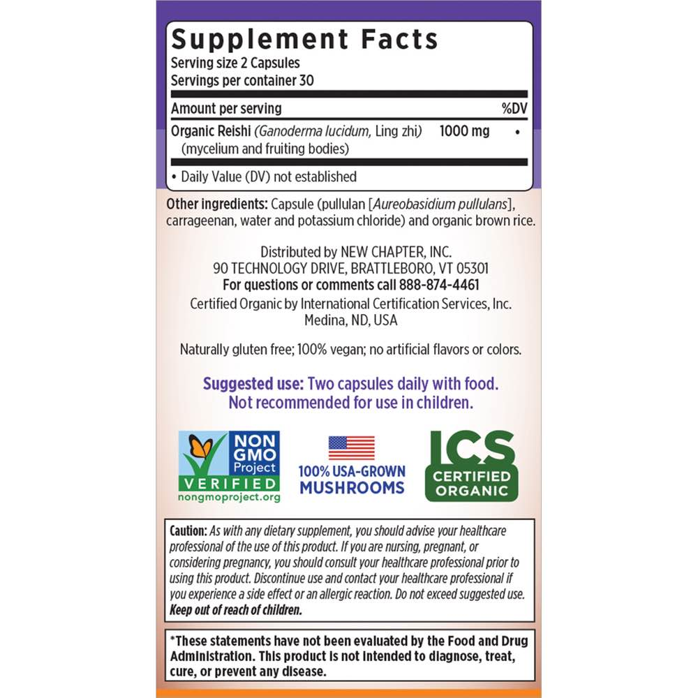 Supplement Facts for http://megafood-vitamins.com/images/Life Shield Reishi