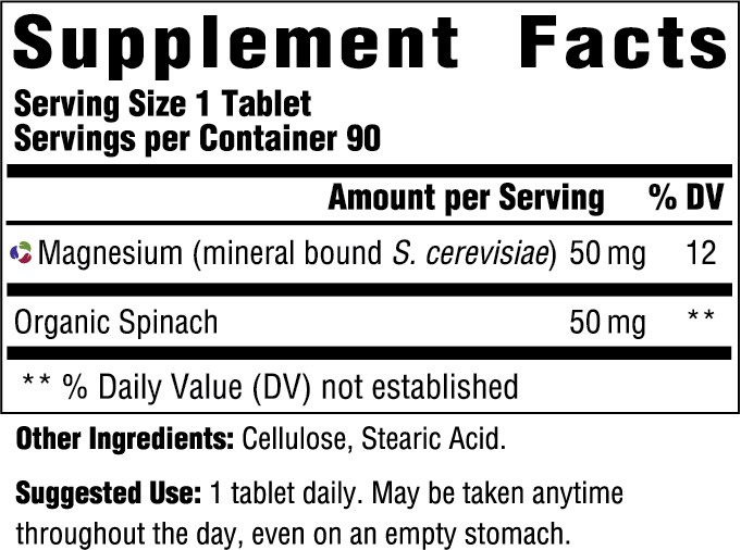 Supplement Facts for http://megafood-vitamins.com/images/Magnesium