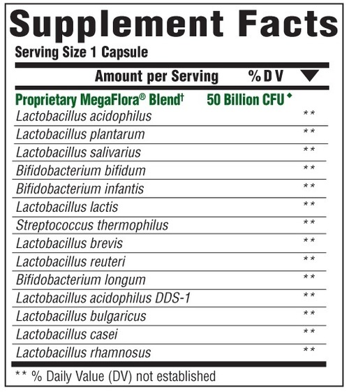 Supplement Facts for http://megafood-vitamins.com/images/MegaFlora Plus