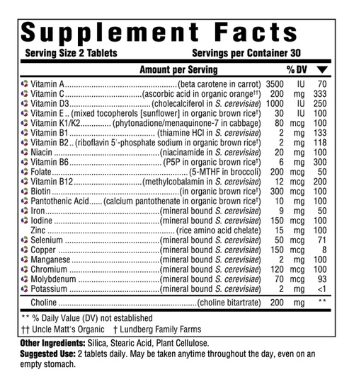 Supplement Facts for http://megafood-vitamins.com/images/MegaFood Multi for Women 40 Plus