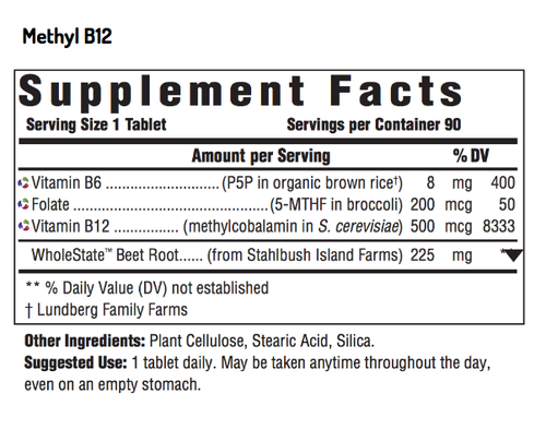 Supplement Facts for http://megafood-vitamins.com/images/Methyl B12