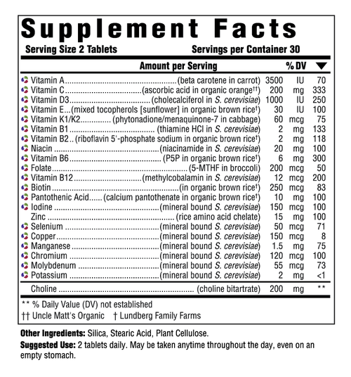 Supplement Facts for http://megafood-vitamins.com/images/Multi for Men 40 Plus