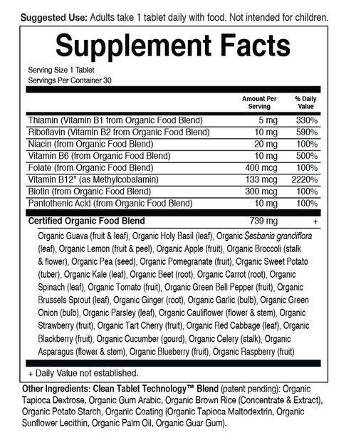 Supplement Facts for http://megafood-vitamins.com/images/MyKind Organics B Complex