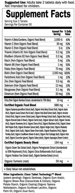 Supplement Facts for http://megafood-vitamins.com/images/MyKind Organics Plant Collagen Builder