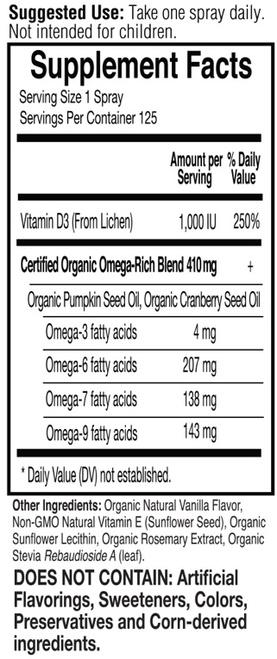 Supplement Facts for http://megafood-vitamins.com/images/MyKind Organics Vegan D3