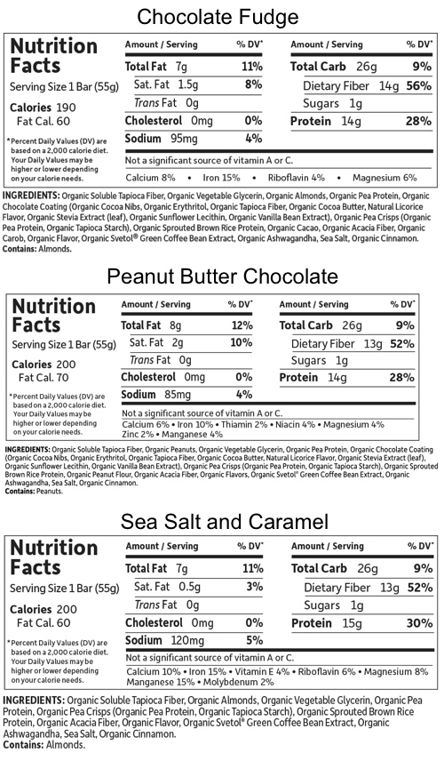 Supplement Facts for http://megafood-vitamins.com/images/Organic Fit Protein Bars