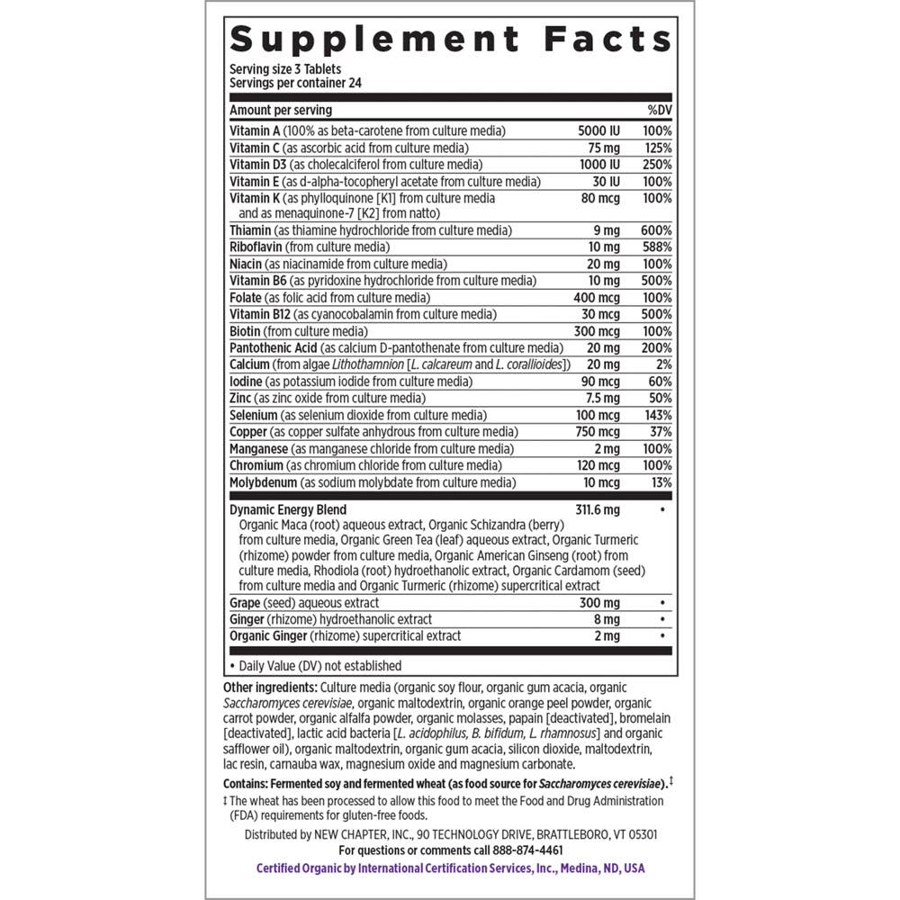 Supplement Facts for http://megafood-vitamins.com/images/Perfect Energy