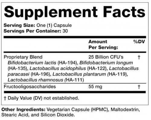 Supplement Facts for http://megafood-vitamins.com/images/Prebiotic-Probiotic Complete