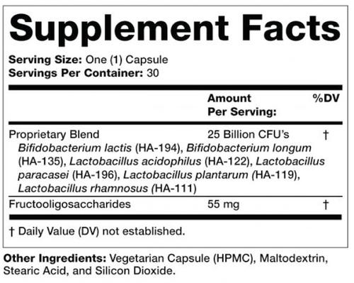 Supplement Facts for http://megafood-vitamins.com/images/Prebiotic-Probiotic Complete