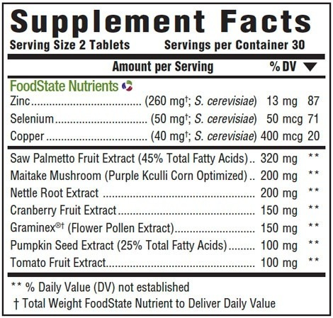 Supplement Facts for http://megafood-vitamins.com/images/Prostate Strength