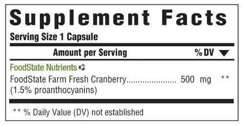 Supplement Facts for http://megafood-vitamins.com/images/Pure Cranberry