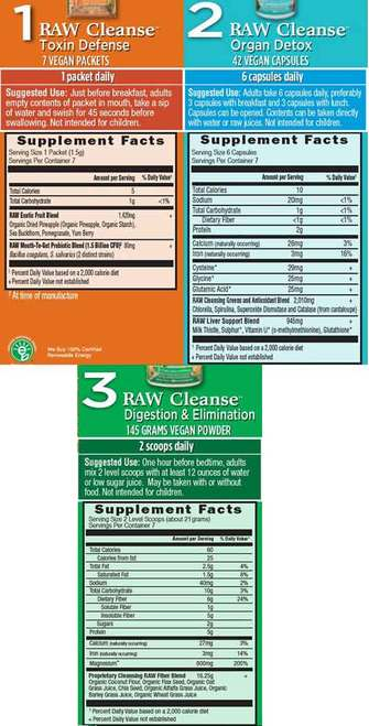 Supplement Facts for http://megafood-vitamins.com/images/Raw Cleanse