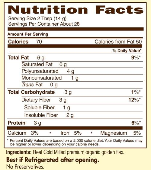 Supplement Facts for http://megafood-vitamins.com/images/Raw Organics