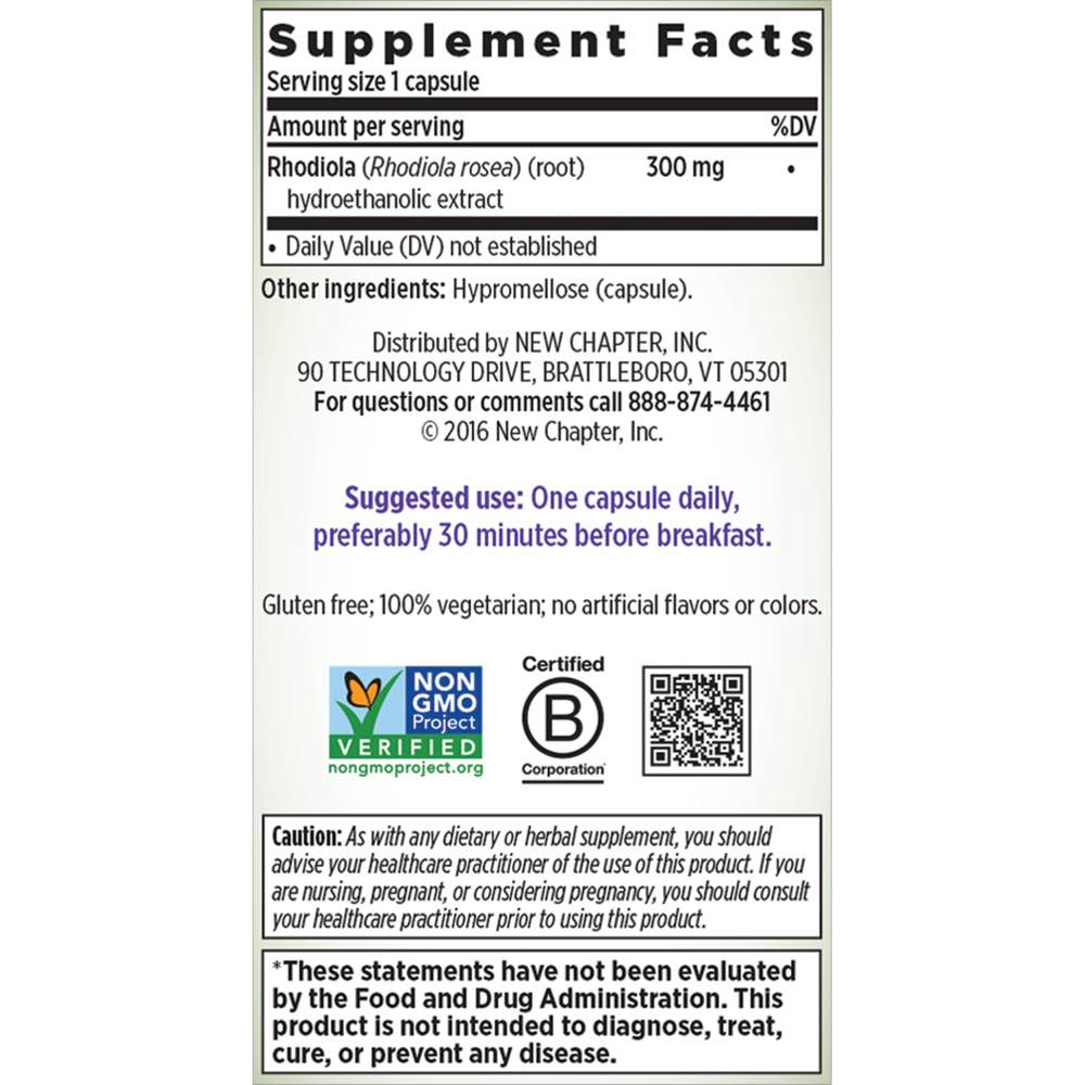 Supplement Facts for http://megafood-vitamins.com/images/Rhodiolaforce
