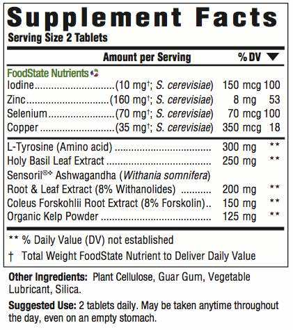 Supplement Facts for http://megafood-vitamins.com/images/Thyroid Strength