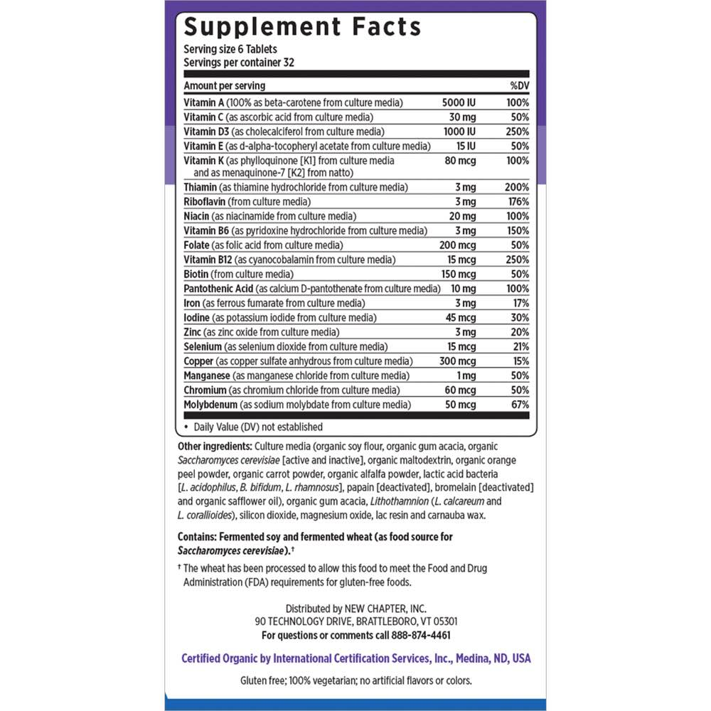 Supplement Facts for http://megafood-vitamins.com/images/Tiny Tabs Multi