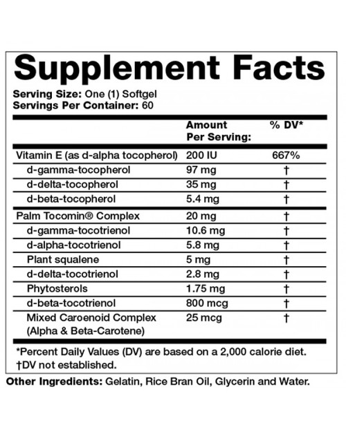 Supplement Facts for http://megafood-vitamins.com/images/Tocomin