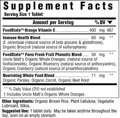 Supplement Facts for http://megafood-vitamins.com/images/Ultra C 400 mg
