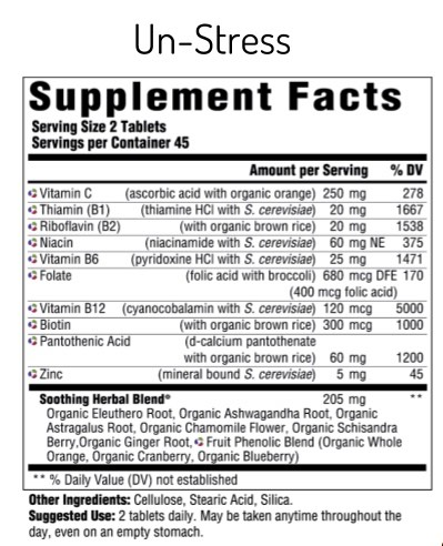 Supplement Facts for http://megafood-vitamins.com/images/UnStress