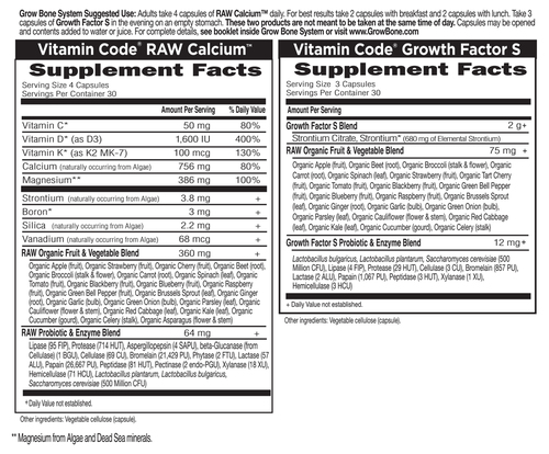 Supplement Facts for http://megafood-vitamins.com/images/Vitamin Code Grow Bone System