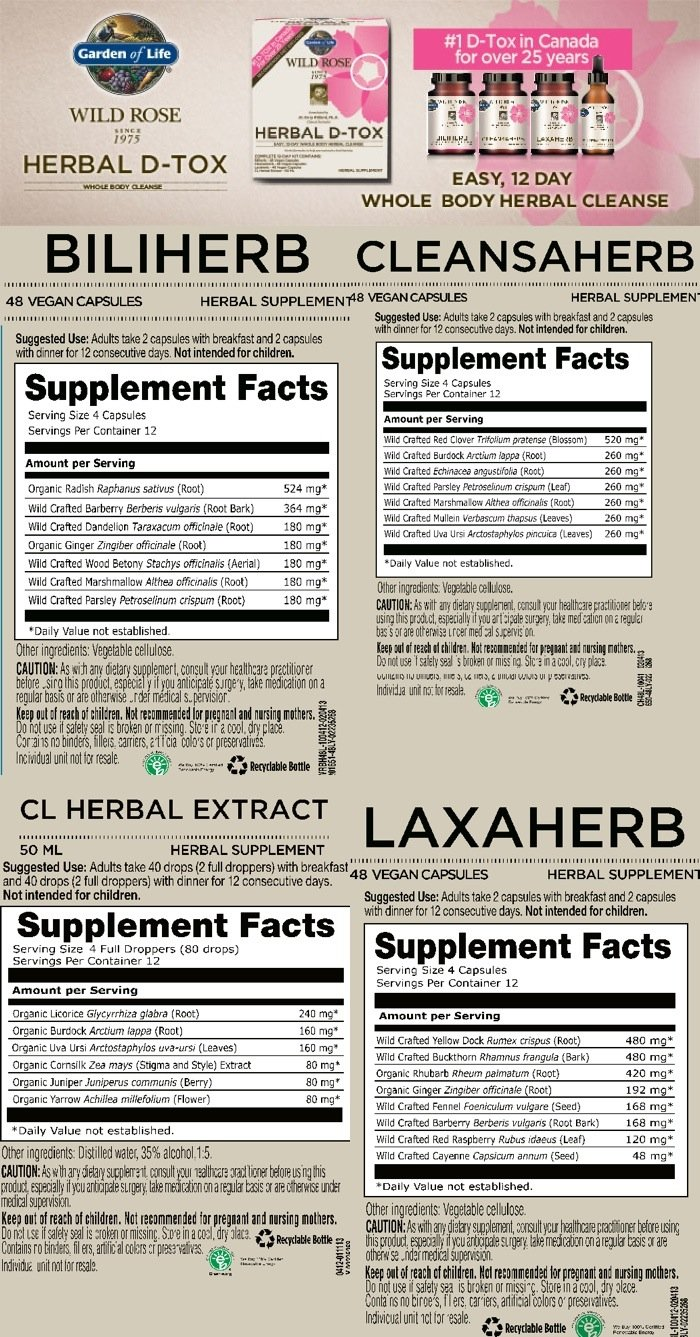 Supplement Facts for http://megafood-vitamins.com/images/Wild Rose Herbal D Tox