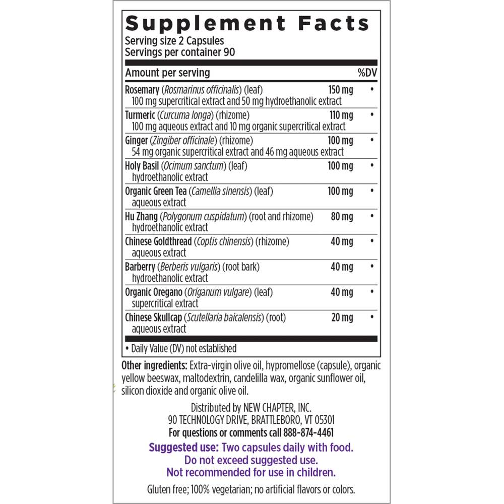 Supplement Facts for http://megafood-vitamins.com/images/Zyflamend